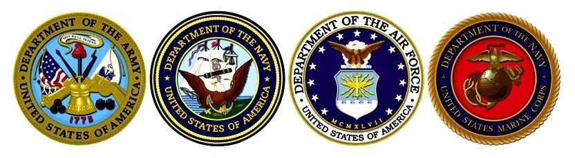 Seals of the Army, Navy, Air Force, and Navy