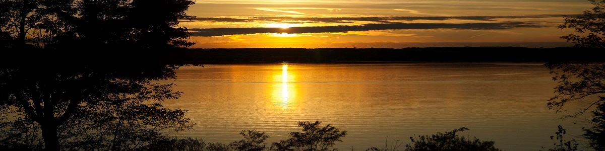 Sunset Over Cayuga Lake by Lori Radcliff Woods INT