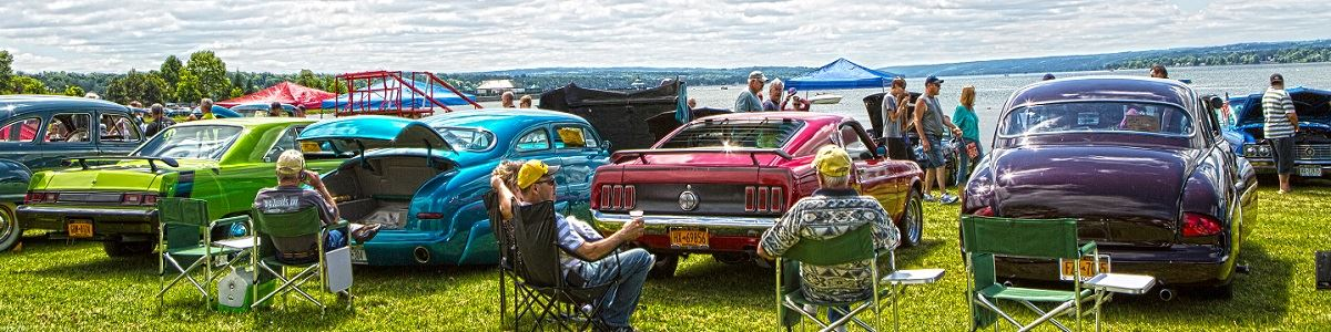 Car Show At Emerson Park On Owasco Lake
