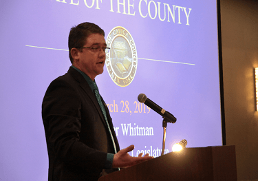 Cayuga County Legislature Chair Tucker Whitman At 2019 State Of The County